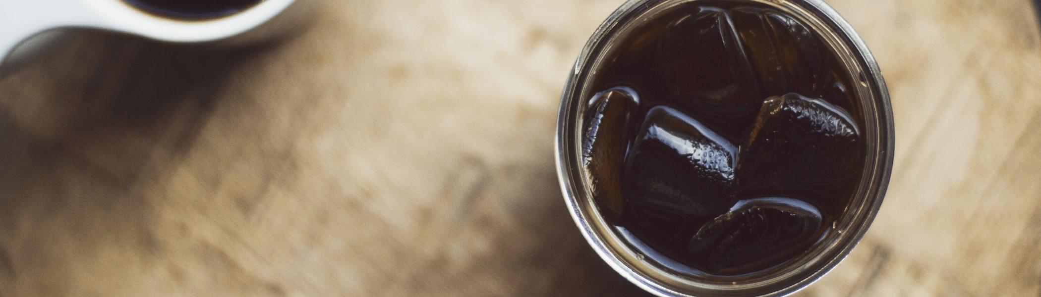 cup of cold espresso