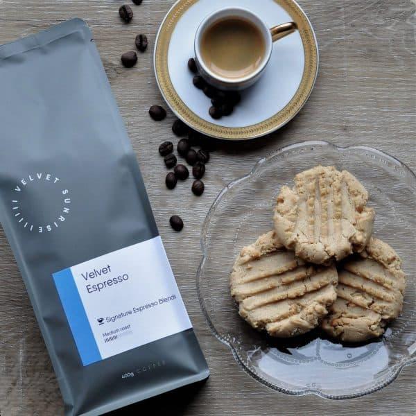 Velvet Sunrise velvet espresso beans bag