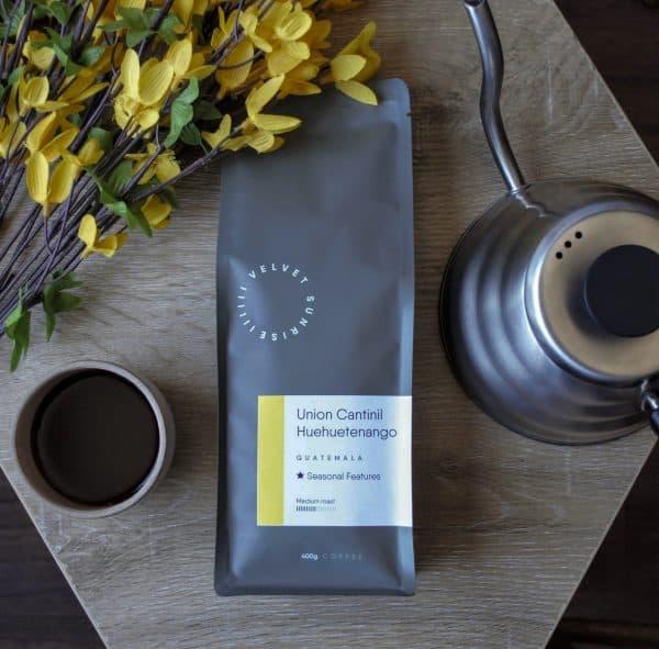 Velvet Sunrise Union Cantinil coffee beans bag